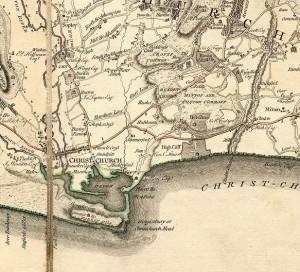 1780 map of Christchurch